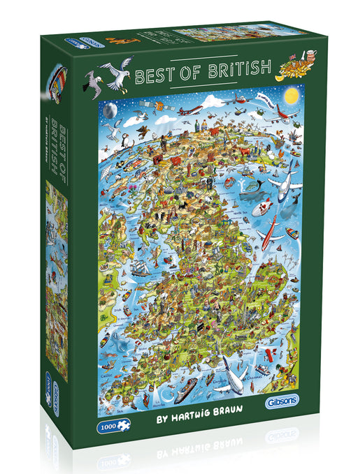 Gibsons Best of British 1000pc Jigsaw Puzzle