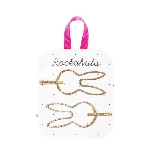 Rockahula Gold Bunny Glitter Cut Out Slides