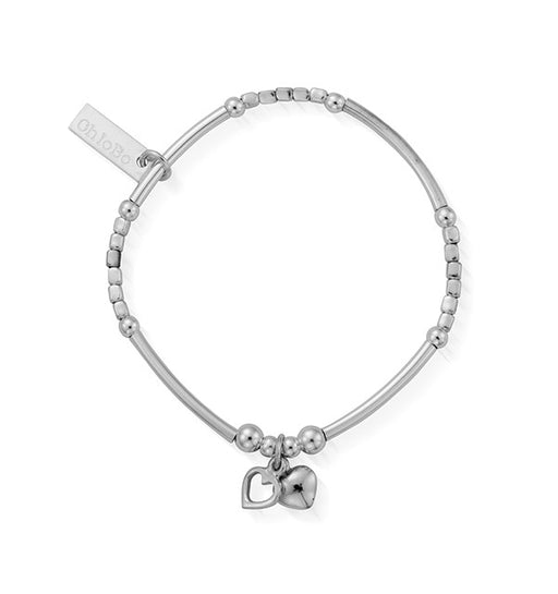 ChloBo Childrens Mini Noodle Double Heart Bracelet