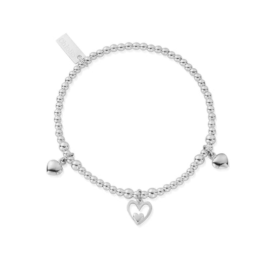 ChloBo Childrens Triple Heart Bracelet
