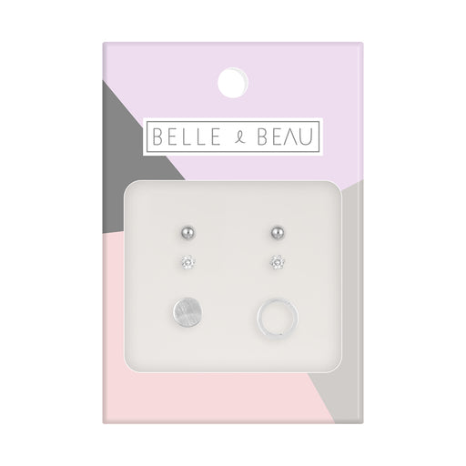 Belle & Beau Circle Earring Set
