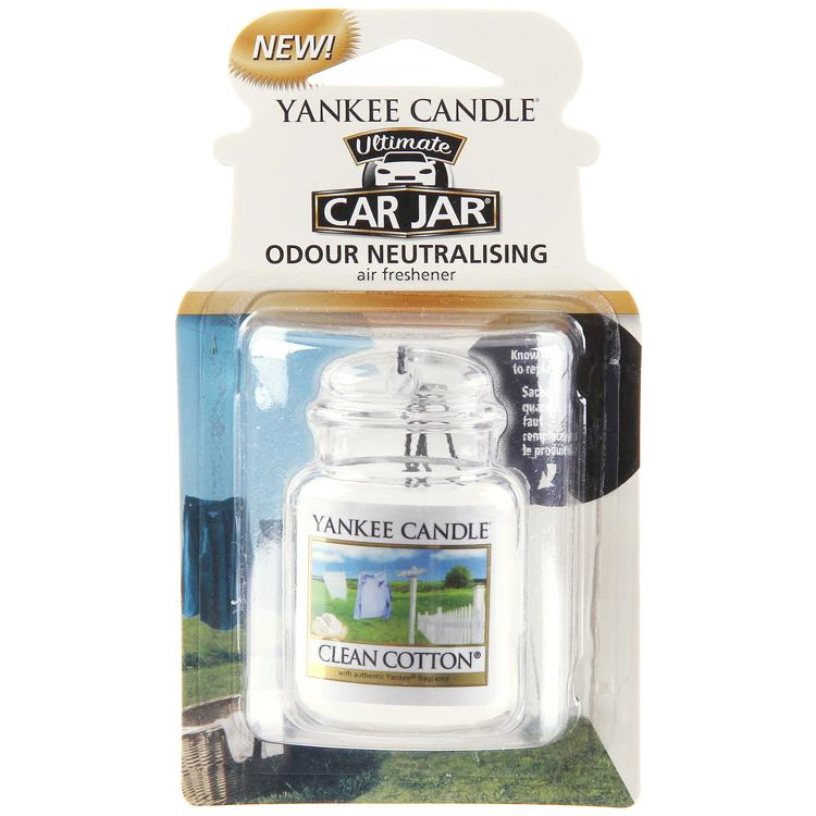 Yankee Candle Ultimate Car Jar Clean Cotton