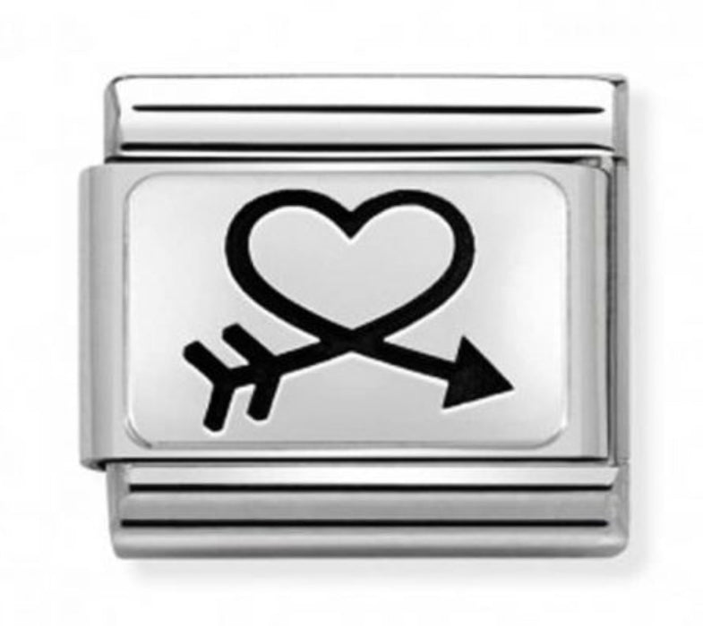 Nomination Classic Charm - Closed Heart and Arrow