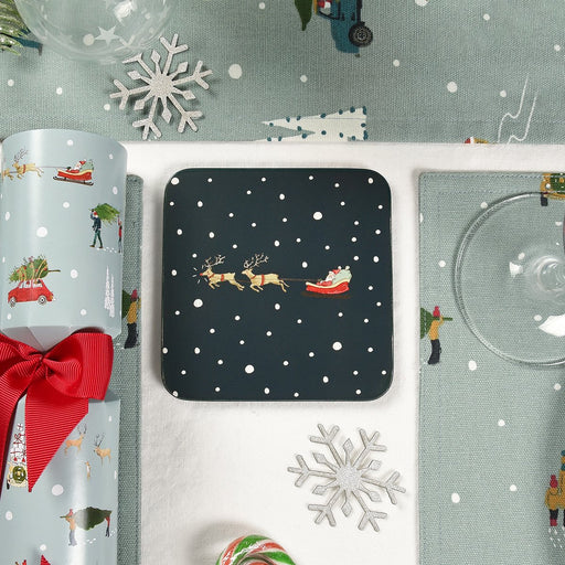 Sophie Allport Home for Christmas Coasters (Set of 4)