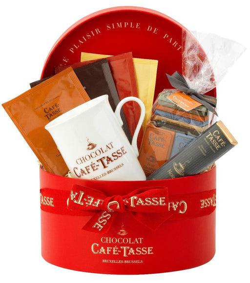 Café Tasse Red Hatbox Gift Set