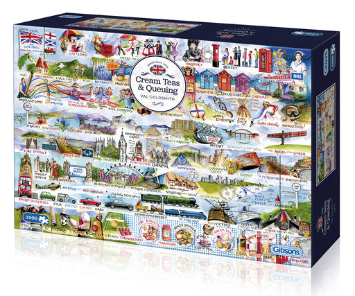 Gibsons Cream Teas and Queuing 1000pc Jigsaw Puzzle