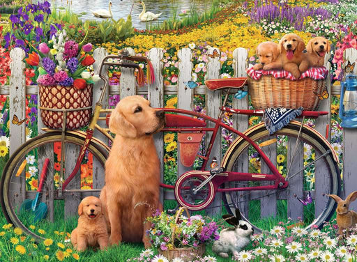 Ravensburger Cute Dogs in the Garden 500 Piece Jigsaw Puzzle