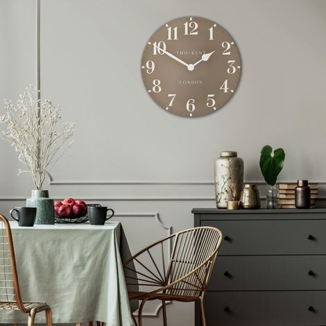 "Thomas Kent 20"" Arabic Clay Wall Clock"