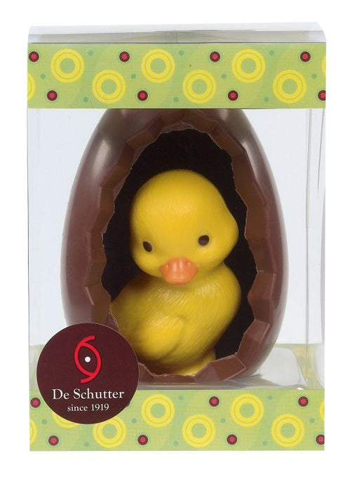 Open Easter Egg with Baby Chick