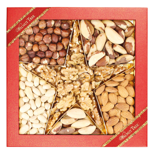 Walnut Tree Star Assorted Natural Nut Box