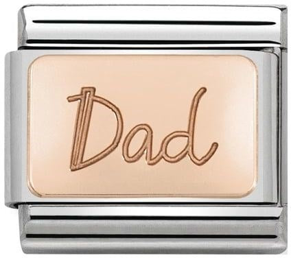 95794041f Nomination Classic Charm - Rose Gold Dad