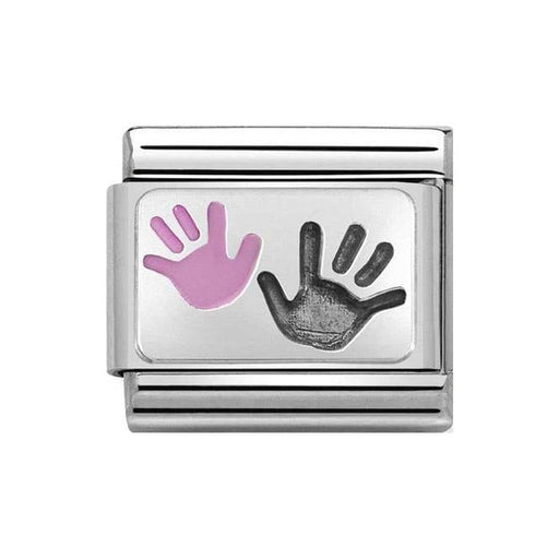 Nomination Classic Charm - Silver Daughter and Parent Hands