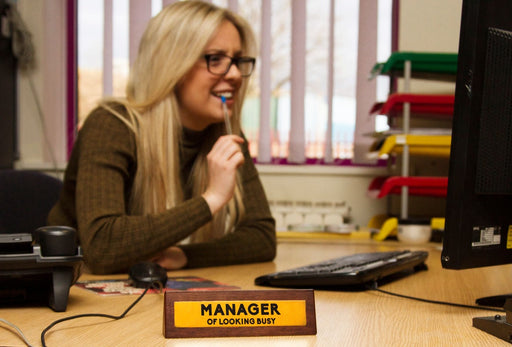 Wooden Desk Sign - Manager