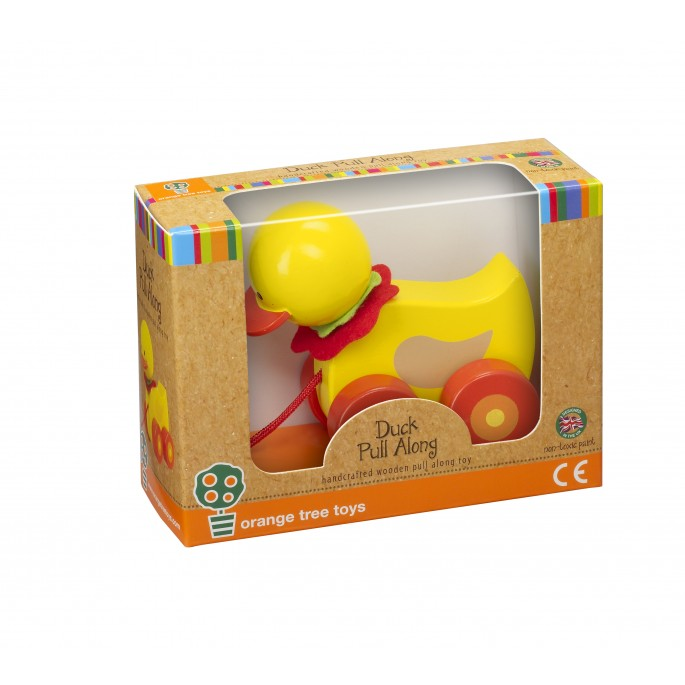 Orange Tree Duck Pull Along