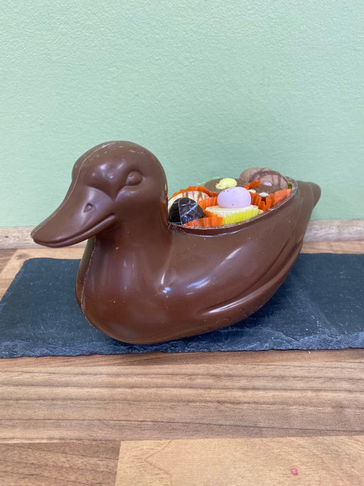Chocolate Duck With Luxury Chocolates