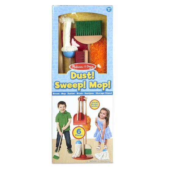 Melissa and Doug Lets Play House! Dust, Sweep, Mop.