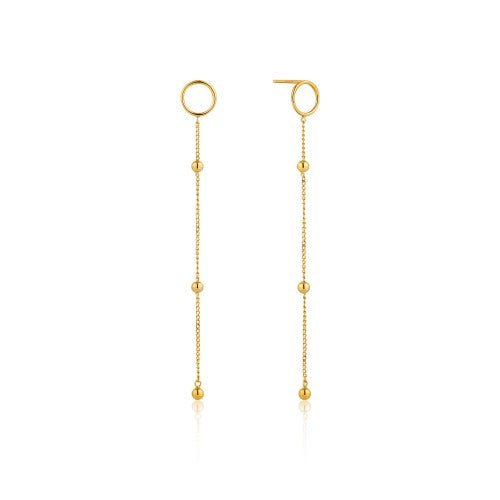 Ania Haie Modern Beaded Drop Gold Earrings