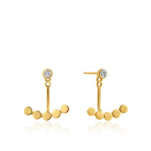 Ania Haie Shimmer Dotted Gold Earrings