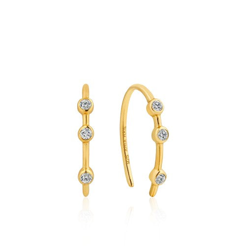 Ania Haie Shimmer Stud Hook Gold Earrings