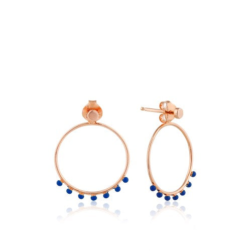 Ania Haie Dotted Font Hoop Rose Gold Earrings