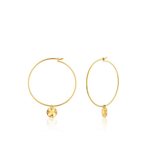 Ania Haie Ripple Hoop Gold Earrings