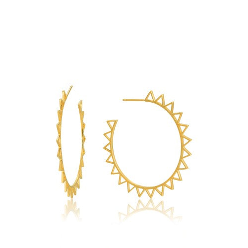 Ania Haie Spike Hoop Gold Earrings