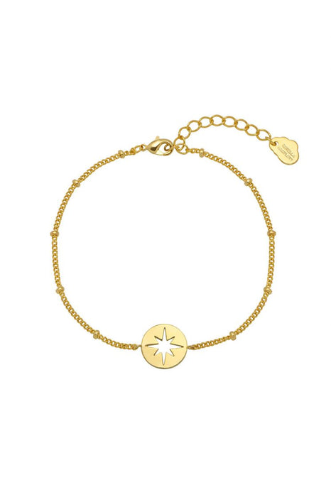 Estella Bartlett Starburst CZ Beaded Chain Bracelet