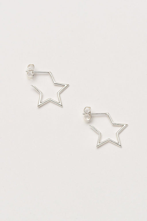 Estella Bartlett Open Star Hoop Earrings