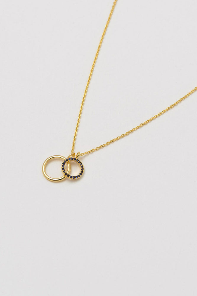 Estella Bartlett Gold Plated Double Circle Charm Pendant