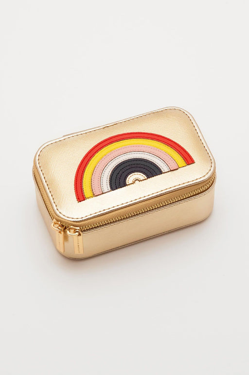 Estella Bartlett Gold Rainbow Applique Mini Jewellery Box