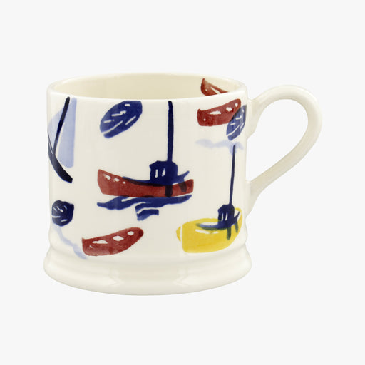 Emma Bridgewater Shoreline Scattered Boats Small Mug