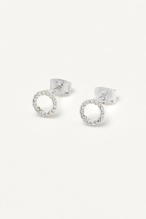 Estella Bartlett Circle Earrings Silver