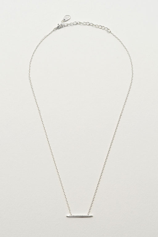 Estella Bartlett Long Bar Necklace Silver