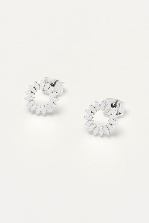 Estella Bartlett Modern Flower Earrings Silver