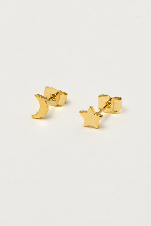 Estella Bartlett Mixed Moon and Star Earrings Gold