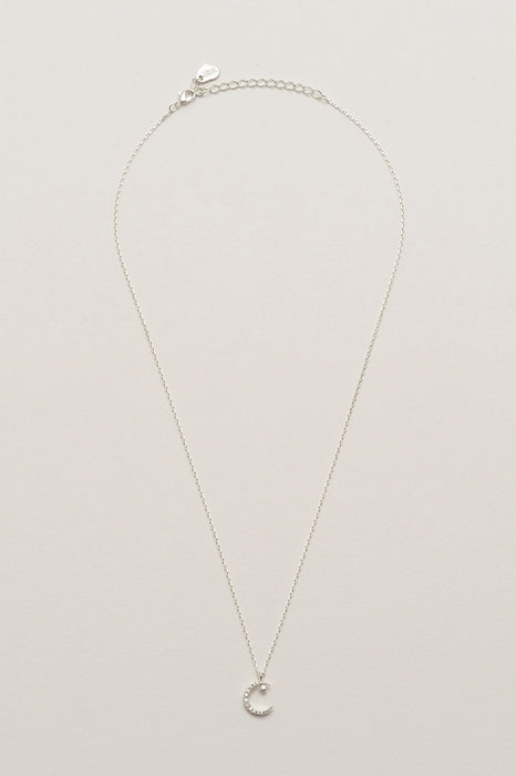 Estella Bartlett Moon and Star Necklace Silver