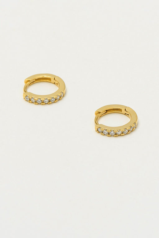 Estella Bartlett Pave Hoop Earrings Gold