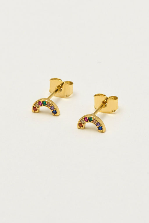 Estella Bartlett Rainbow Earrings Gold