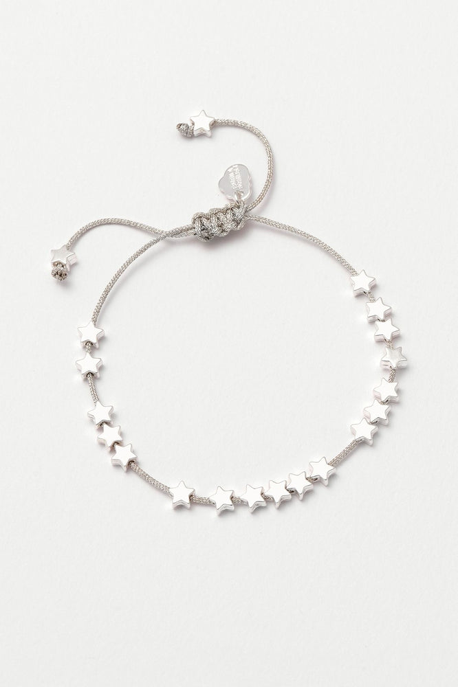 Estella Bartlett Stars So Bright Friendship Bracelet Silver