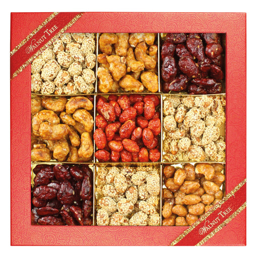 Walnut Tree Nine Section Assorted Spicy Nut Box