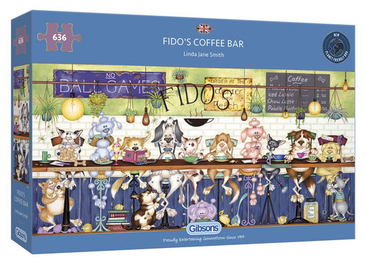 Gibsons Fidos Coffee Bar 636pc Jigsaw Puzzle
