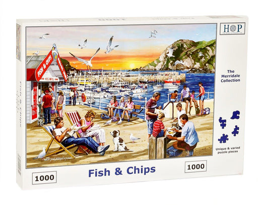 HOP Fish and Chips 1000 Piece Jigsaw Puzzle