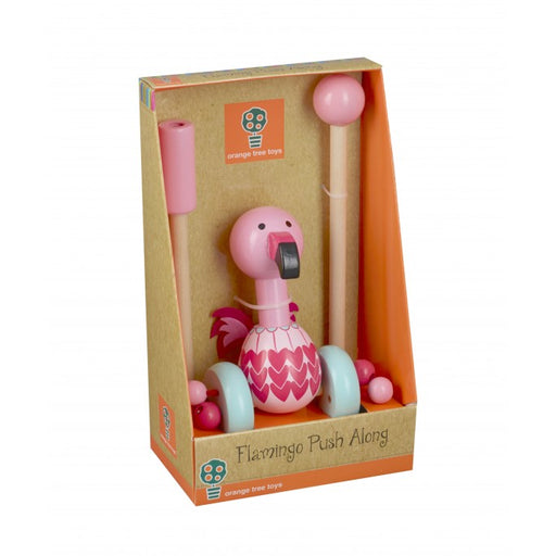 Orange Tree Flamingo Push Along Boxed