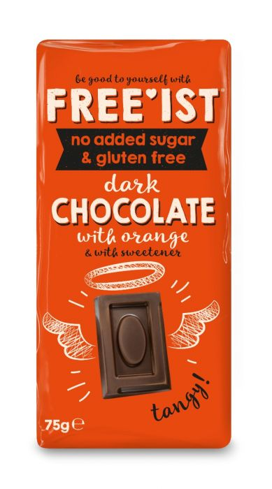 Free'ist Dark Chocolate with Orange No Added Sugar
