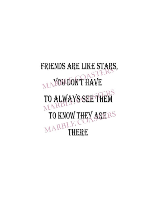 Marble Coaster - Friends Like Stars