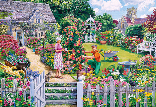 Gibsons The Gardeners Round 4 x 500pc Jigsaw Puzzles