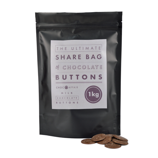 Choc Affair Ultimate Share bag of Giant Milk Chocolate Buttons