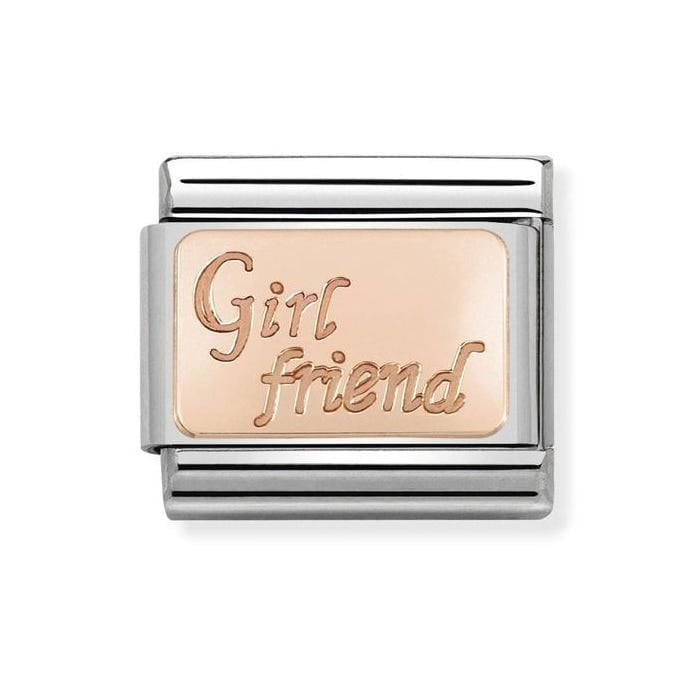 Nomination Classic Rose Gold Girl Friend Charm