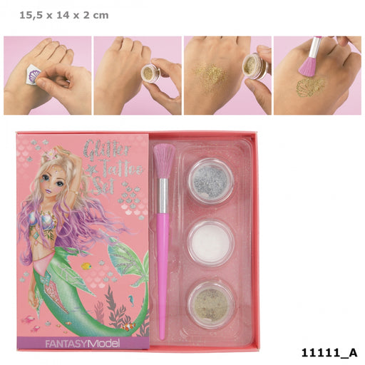 TOPModel Fantasy Model Glitter Tattoo Set Mermaid