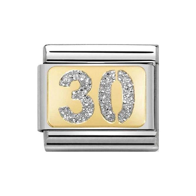 Nomination Classic Charm - Gold and Silver Glitter 30